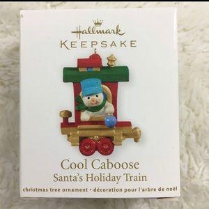 Hallmark Keepsake Cool Caboose Miniature Ornament